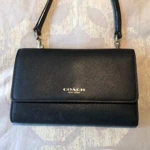 Black Coach Wallet Crossbody Bag